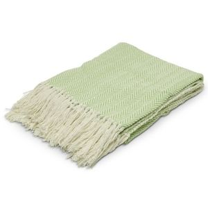 Cotton Green Throw